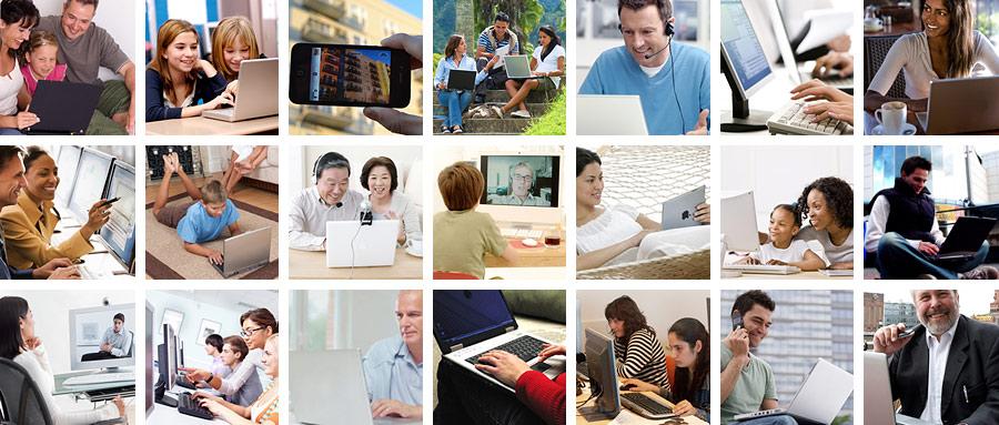 grille des personnes utilisant des ordinateurs