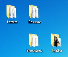 Folders on the desktop