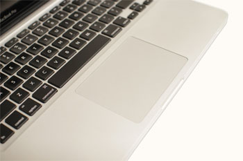 A touchpad on a laptop