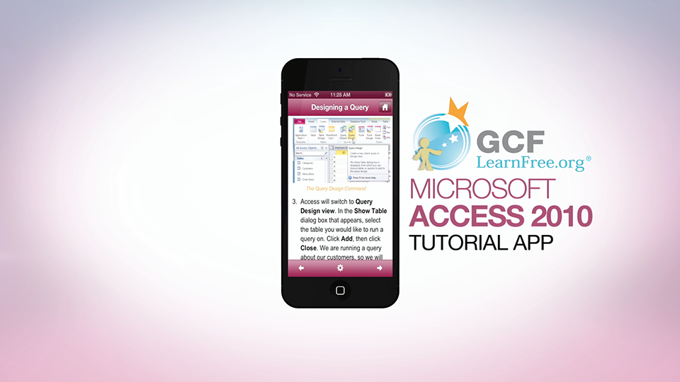 Access 2010 Tutorial App