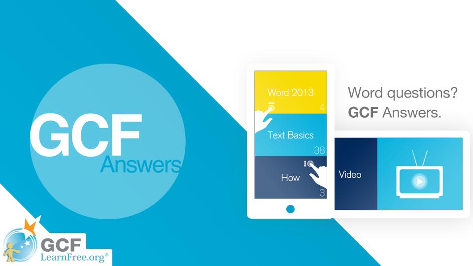 GCF Answers