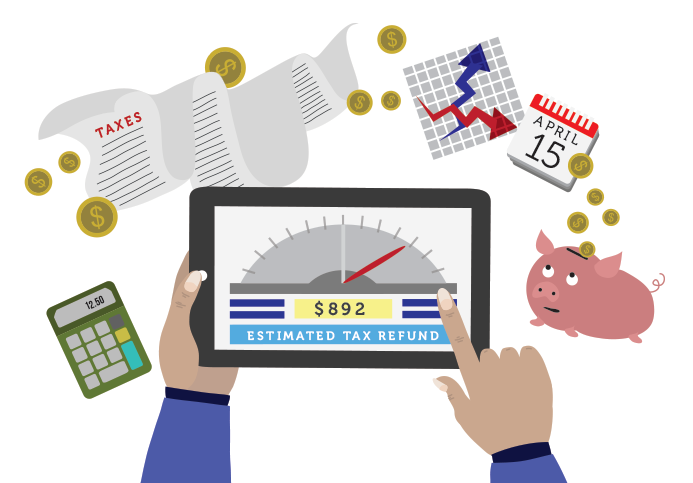 illustration of online tax payment