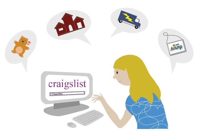 woman using Craigslist.org