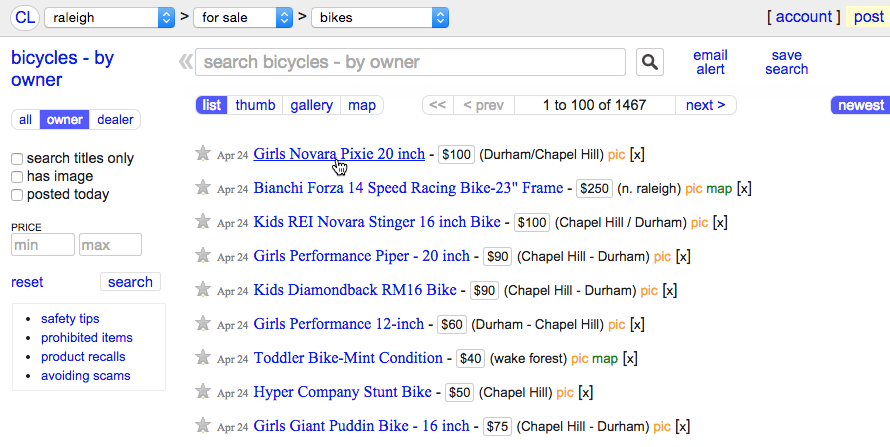 Using the Web to Get Stuff Done: What is Craigslist?