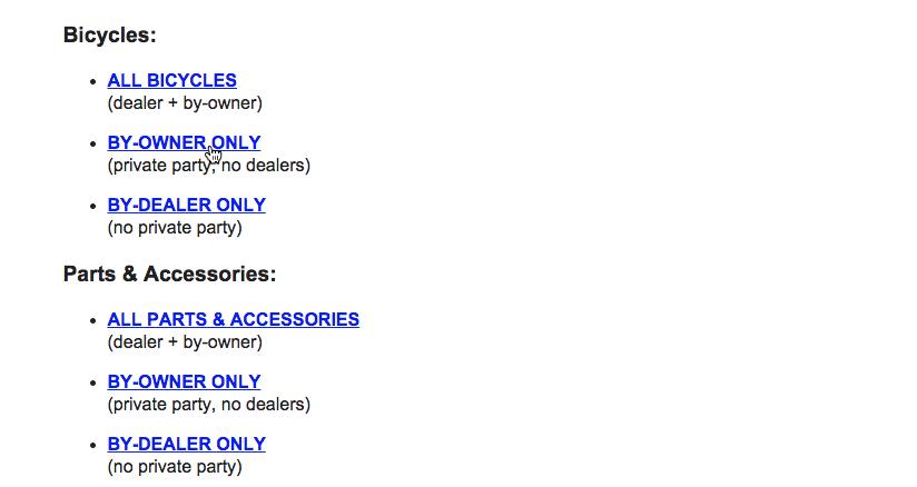 choosing a sub-category