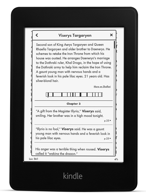 amazon kindle using the x-ray feature