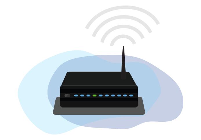 Sebuah router nirkabel