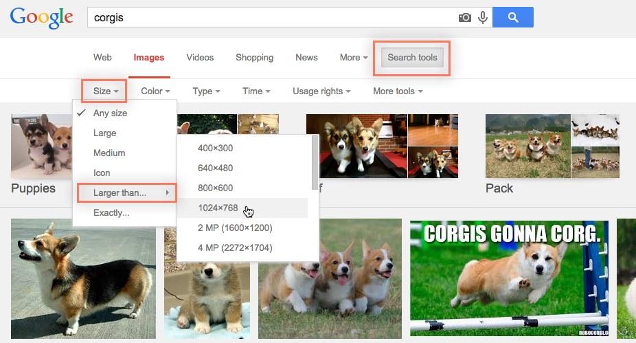 Mencari gambar Google