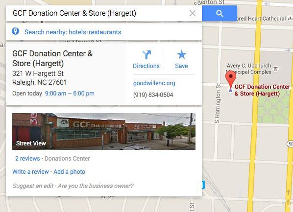 Google Карталар боюнча жайгашкан жерди тандоо