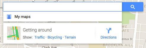 Kotak pencarian di Google maps