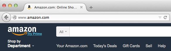 Screenshot of corrected URL