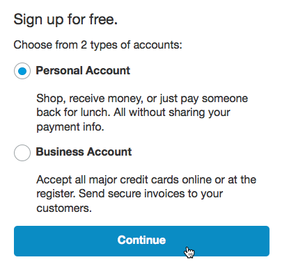 choosing an account type