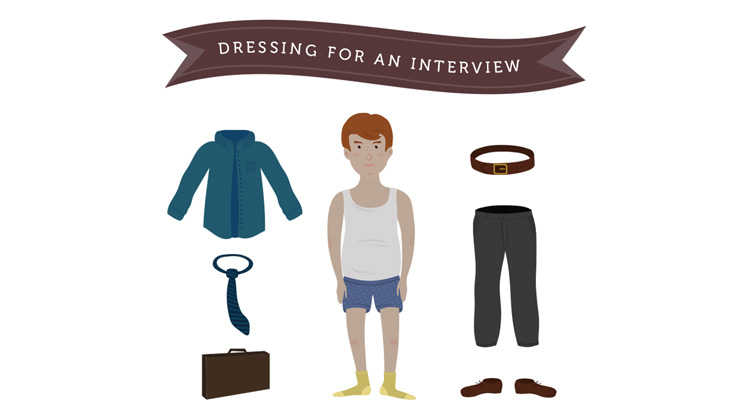 Getting dressed for an interview