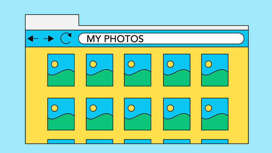 storing photos in the cloud