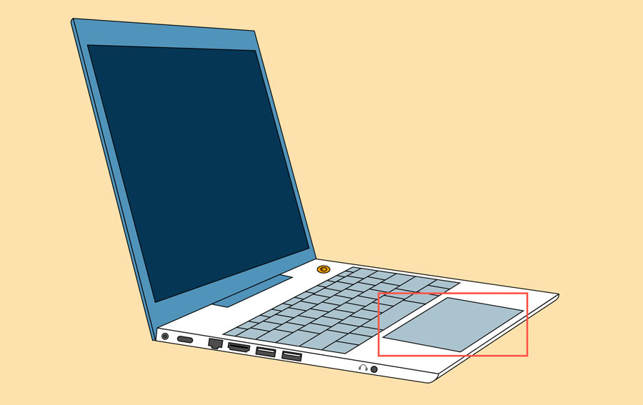 a laptop touchpad