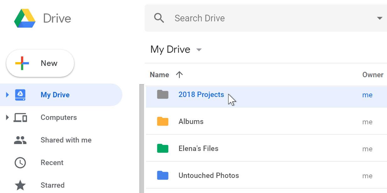 Folder on Drive.