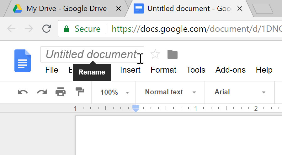 Selecting Untitiled Document.
