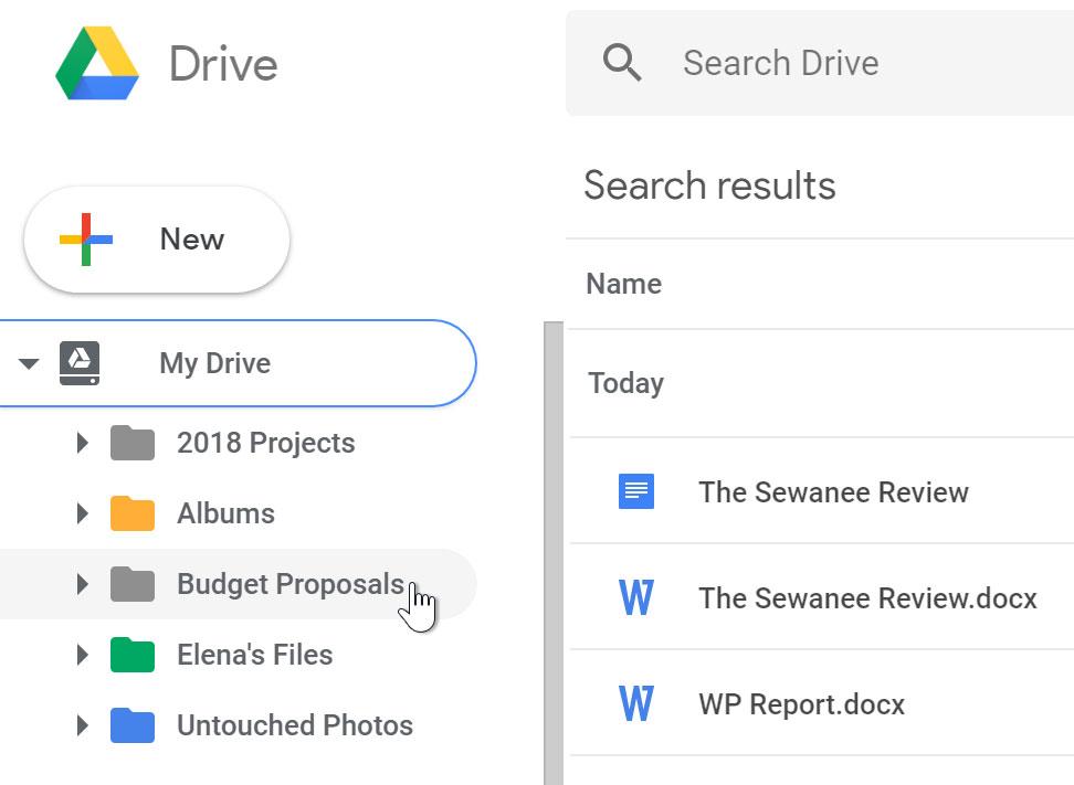 Folder in Drive.