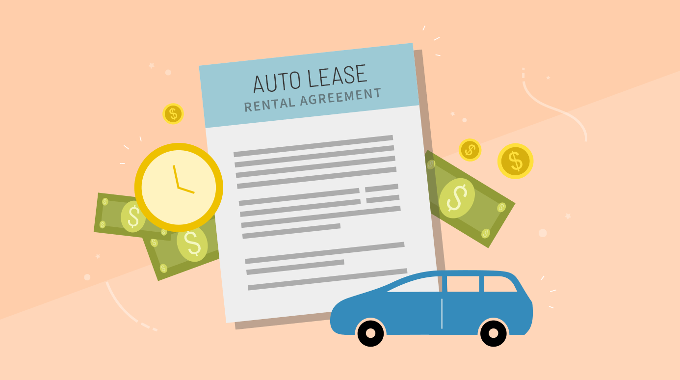 illustration of a car lease