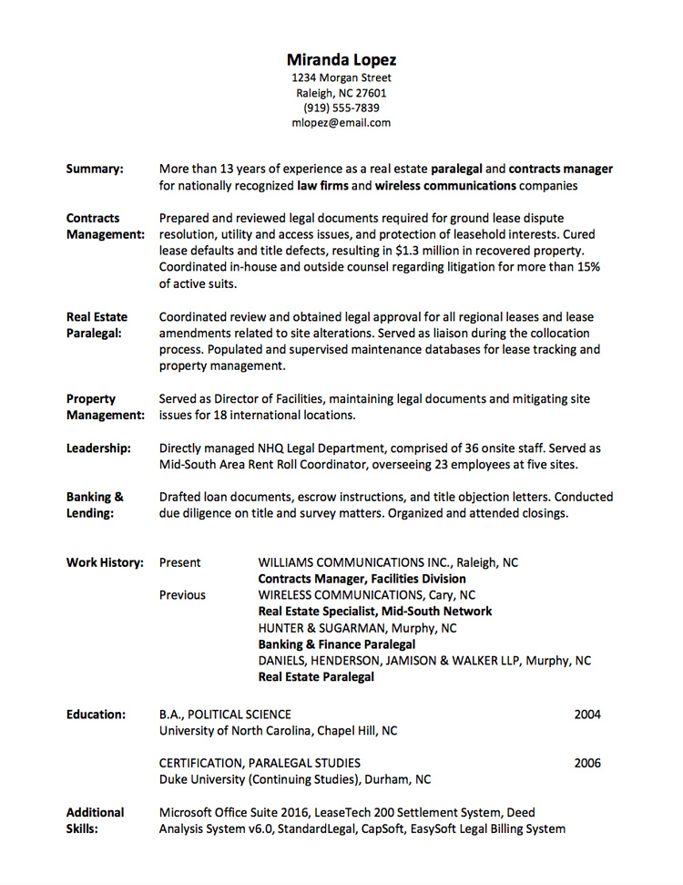Functional Skills Listed  Functional Resumes