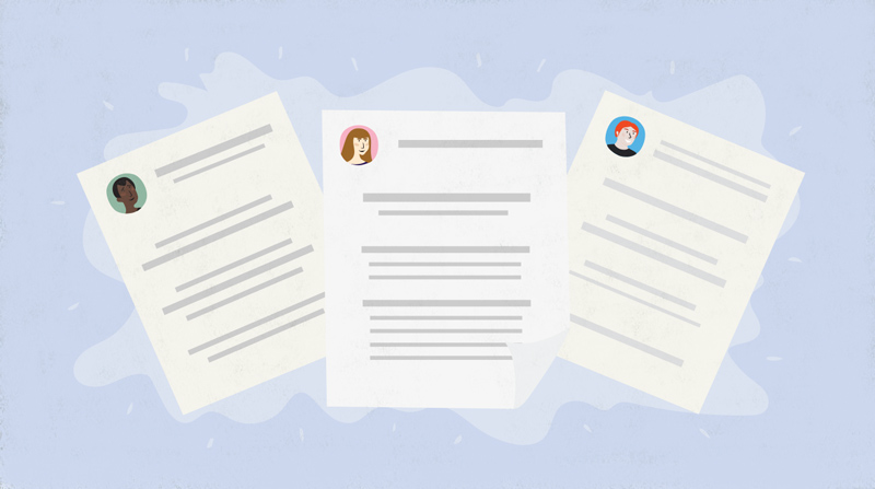 Resume Formats: Choosing The Right One. Choosing_right_format_illustration