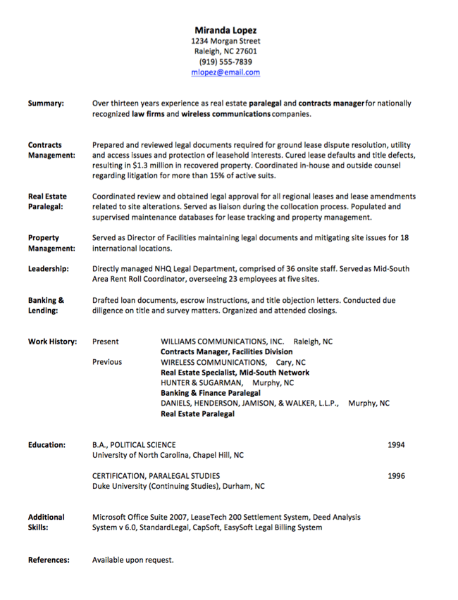 gallery of resume job history