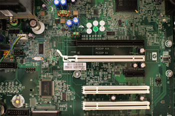 image of a motherboard