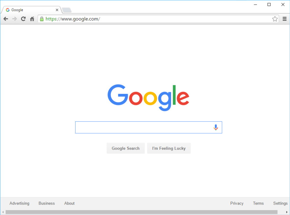 Google Chrome nettleser