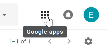 Google apps button