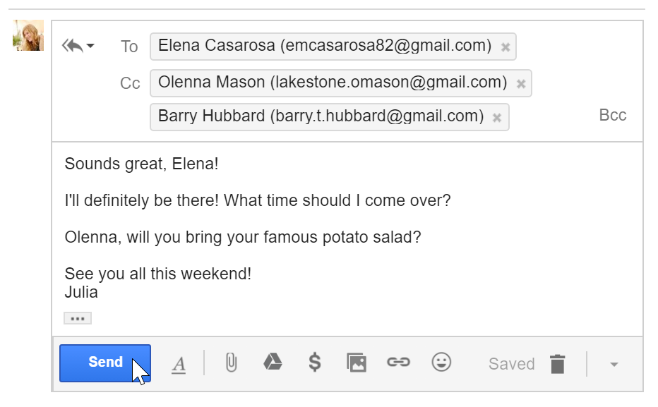 Gmail Responding To Email