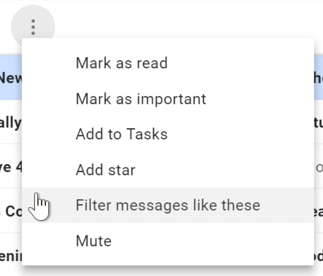 Filtering similar messages