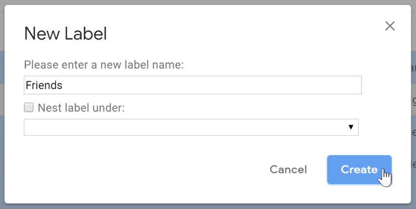 Naming the label