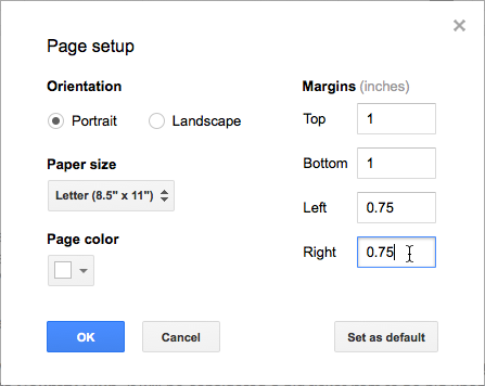 Setting Page Margins