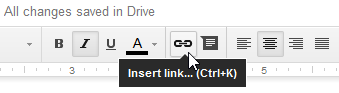 Clicking the Insert link button
