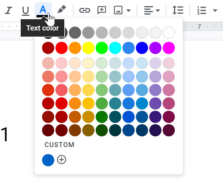 clicking text color