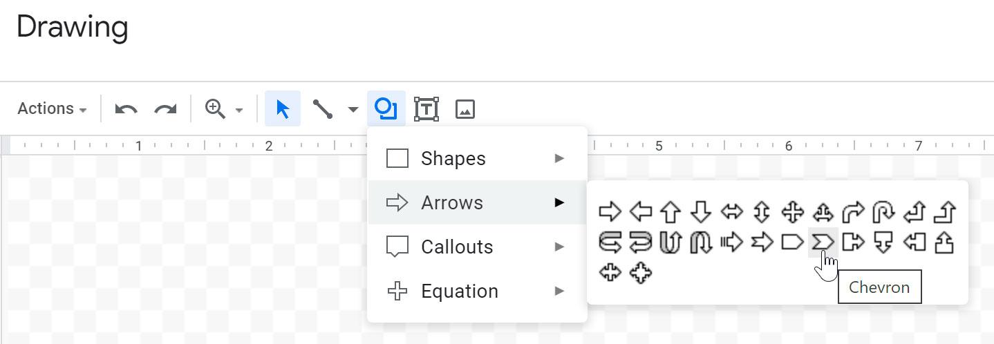 selecting a shape