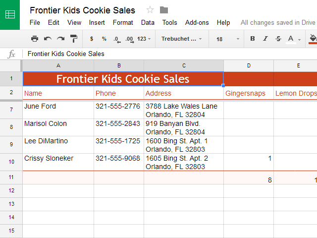 Google Sheets: Modifying Columns, Rows, and Cells