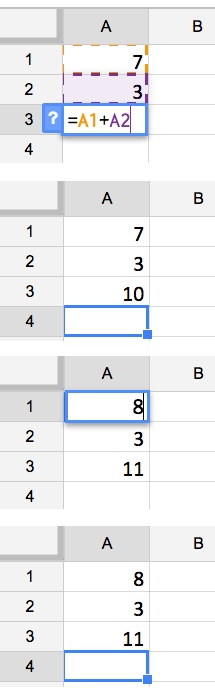 Using cell references to recalculate a formula