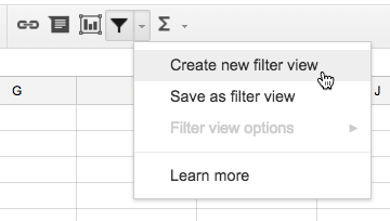 Creating a filter view