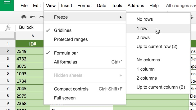 Google Sheets: Sorting and Filtering Data
