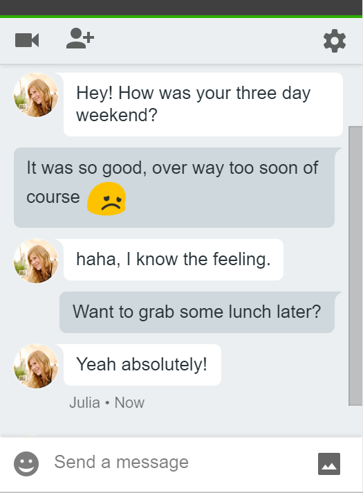 Gmail's instant messaging client