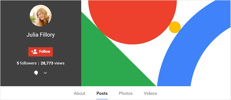 A Google Plus profile