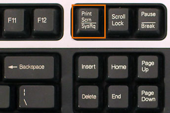 showing a PC keyboard