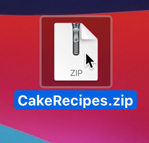 Opening a zip file in Mac OS