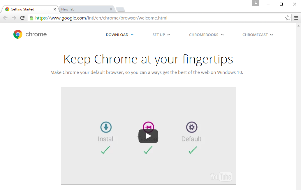 Chrome: Getting Started with Google Chrome