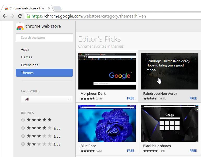 Chrome: Customizing Chrome