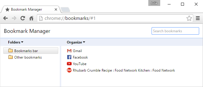 Chrome: Bookmarking in Chrome Print Page