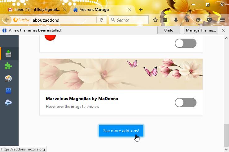 New Firefox Themes