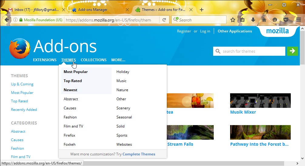 Firefox: Customizing Firefox