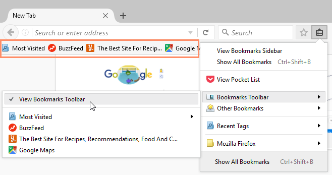 Firefox: Bookmarking in Firefox Print Page